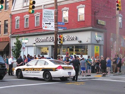 Police and protestors clash at an Aug. 24 protest - PHOTO COURTESY OF THOMAS C. WATERS