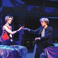 <i>POP!</i> life: Courtney Bassett and Anthony Rapp in <i>POP!</i>, at City Theatre