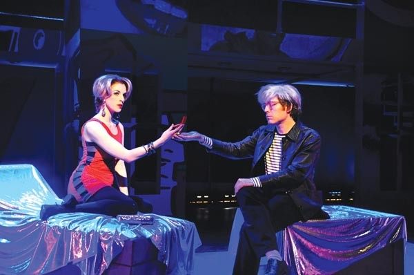 POP! life: Courtney Bassett and Anthony Rapp in POP!, at City Theatre