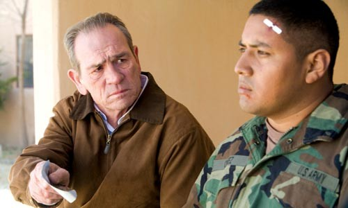 Post-Iraq debriefing: Tommy Lee Jones confronts Victor Wolf