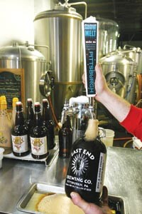 Pour-house: The beer is tap-fresh at East End Brewing. - HEATHER MULL