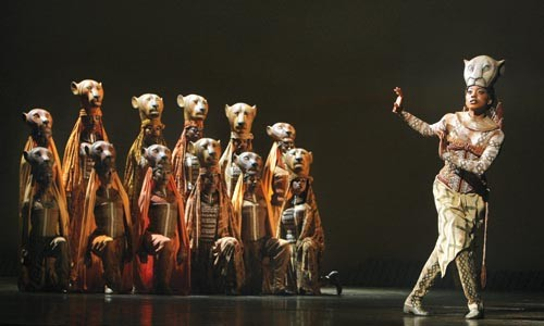 Pride goeth before an audience: the lionesses in The Lion King. Photo courtesy of Joan Marcus.