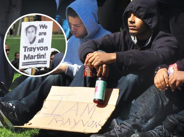 Protesters gathered to remember Florida teen Trayvon Martin during a March 26 rally at Carnegie Mellon Univaersity.