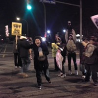 Protesters march through East Liberty to Zone 5 Police Headquarters demanding justice for Leon Ford