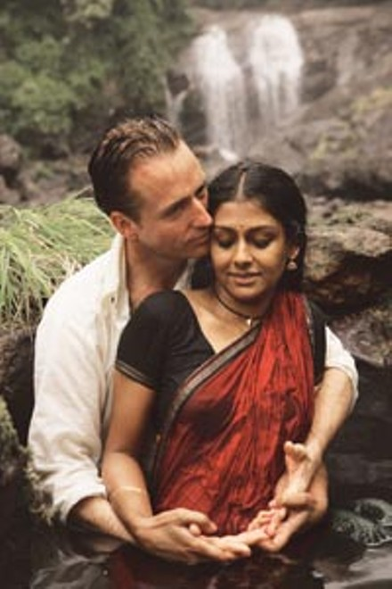Rainy day lovers: Linus Roache and Nandita Das