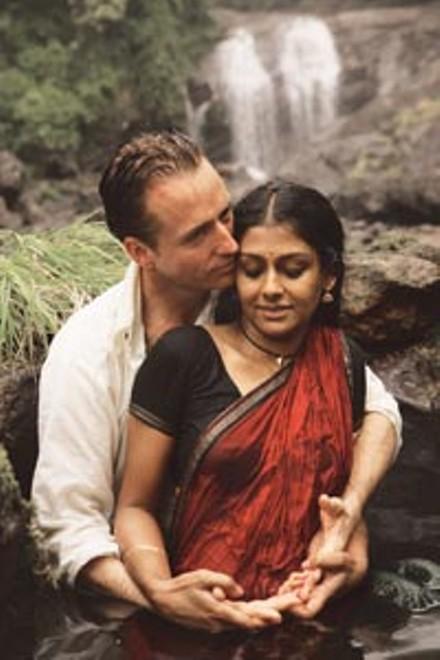 Rainy day lovers: Linus Roache and Nandita Das