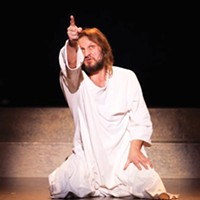 Ray Cygrymus in Pittsburgh Musical Theater's <i>Jesus Christ Superstar</i>.