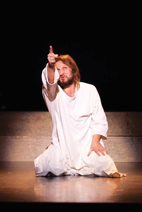 Ray Cygrymus in Pittsburgh Musical Theater's Jesus Christ Superstar.
