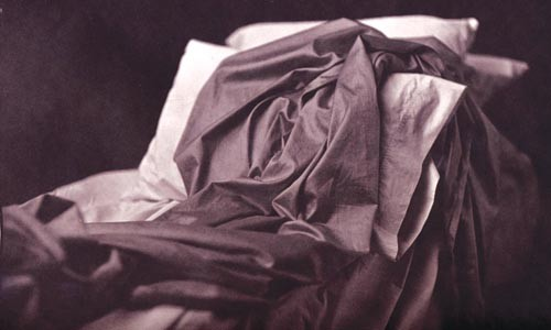 """Razed bed: """"Sleepless,"""" by France Scully Osterman."""