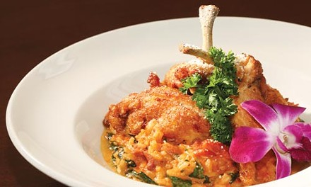 Roasted-chicken risotto rosso