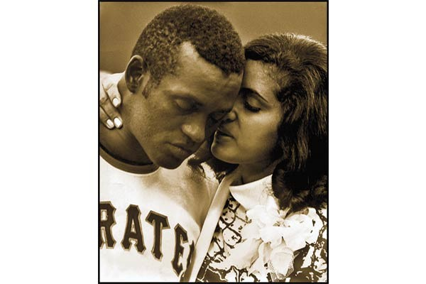 Roberto Clemente with his wife, Vera