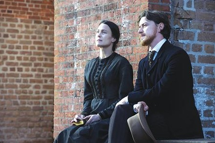 Robin Wright Penn and James McAvoy take a break from their trials.