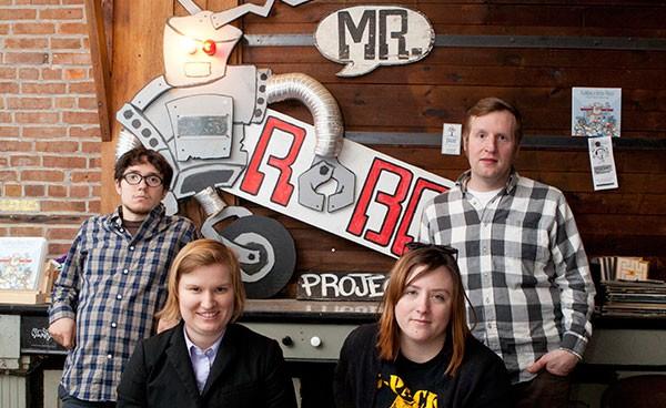 Roboto board members Richard Magnelli, Laura Krizner, Pam Hanlin and Jonathan Dowling