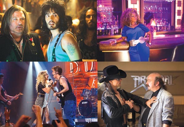 Rock around the clock (from upper left: Alec Baldwin and Russell Brand; Mary J. Blige; Tom Cruise and Paul Giamatti; Julianne Hough and Diego Boneta