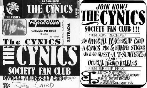 Rock 'n' roll detritus: Cynics memorabilia from across the years -- and around the world