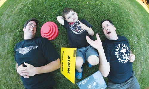 Rock 'n' Roll Pre-School: Dan Allen, John Henry Doran and John Doran, from left