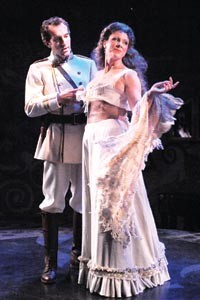Round and round: Gregory Johnstone (left) and Gab Cody in The REP's La Ronde.