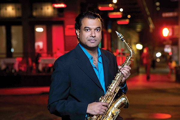 Rudresh Mahanthappa plays the main stage of the Pittsburgh JazzLive International Festival.