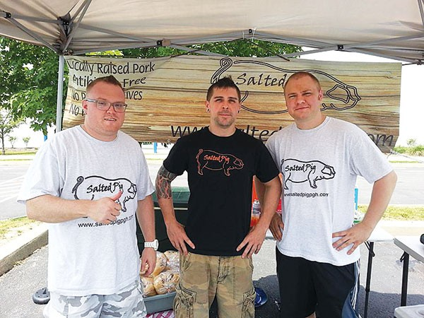 Salted Pig founders (from left): Mike Pizzuto, Blair Hohn III and Brandon Gadjos