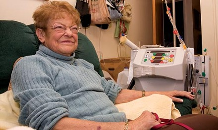 Sandy White says she prefers the rigors of daily dialysis at home compared to getting similar treatment in an out-patient clinic. - PHOTO BY HEATHER MULL