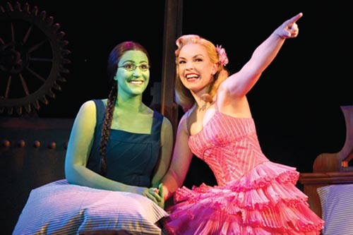 Season of the witch: Anne Brummel (left) and Natalie Daradich in Wicked. - PHOTO COURTESY OF JOAN MARCUS.