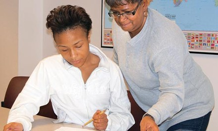 Shequaila Griffin (left) and Diane Bunch are benefiting from adult-literacy classes. But the program faces large budget cuts. - CHRIS YOUNG