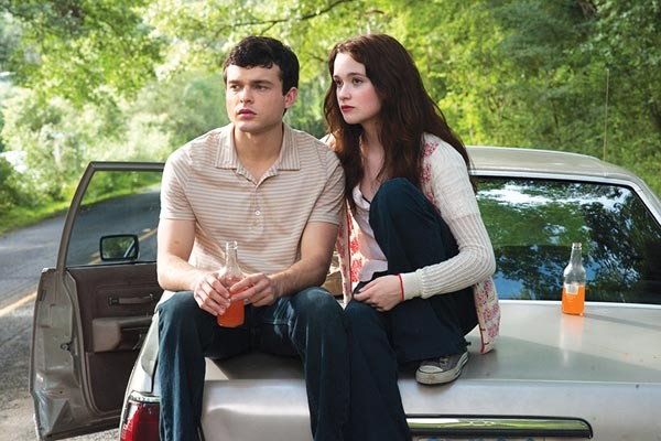 She's a witch! Alden Ehrenreich and Alice Englert