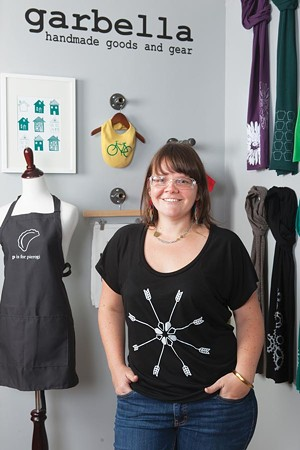 She's crafty: Amy Garbark, in her Morningside studio - PHOTOS BY JOHN COLOMBO