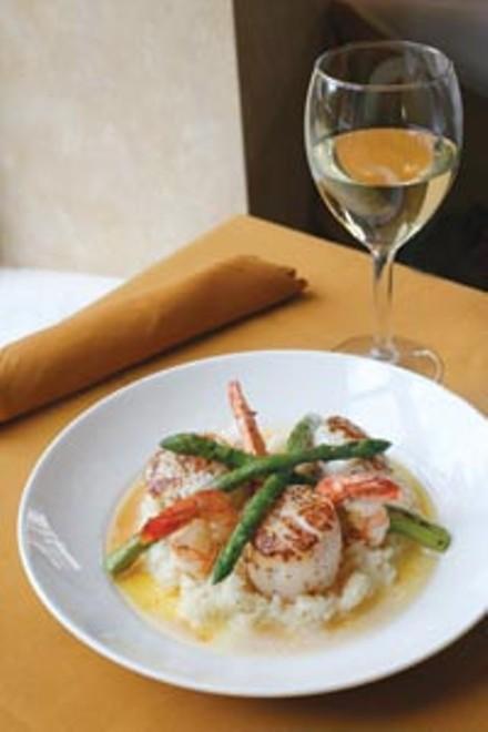 Shrimp and scallop risotto - HEATHER MULL