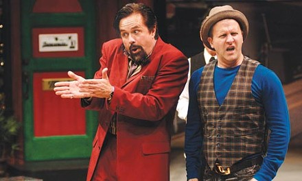 Shtick and move: Doug Mertz (left) and Nat DeWolf in the Pittsburgh Public Theater's The Comedy of Errors. Photo courtesy of Ric Evans.