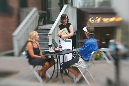 Sidewalk dining at Girasole on Copeland Street - PHOTO: HEATHER MULL