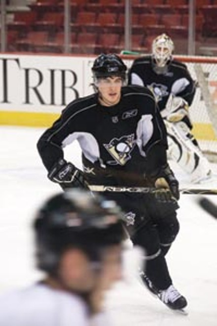 Sidney Crosby practicing during last year's playoffs - HEATHER MULL