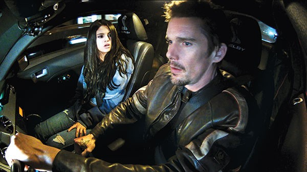 Snakebit in Sofia: Selena Gomez and Ethan Hawke ride out a long night.