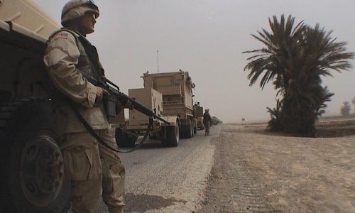 Snapshot from a war: Photo taken by CNN correspondent Lisa Rose Weaver when she was an embedded reporter in Iraq - PHOTO COURTESY OF LISA ROSE WEAVER