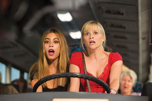 Sofia Vergara and Reese Witherspoon yell some jokes
