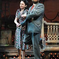Southern culture on skates: Julie Fitzpatrick and Andrew Polk in Talley's Folly, at Pittsburgh Public Theater.