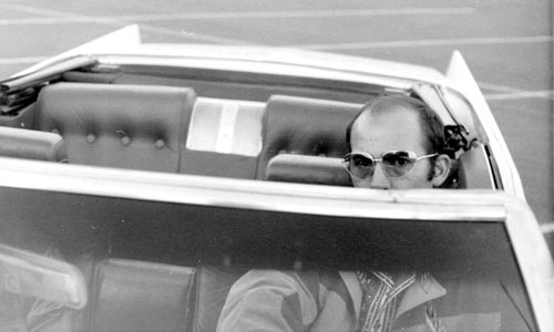 Split screen: Hunter S. Thompson
