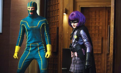 Stand by for vengeance: Kick-Ass (Aaron Johnson) and Hit-Girl (Chloe Moretz)