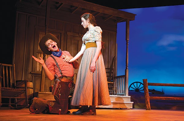 Stanley Graham and Kirsten Lynn Hoover in Point Park Conservatory's Oklahoma!
