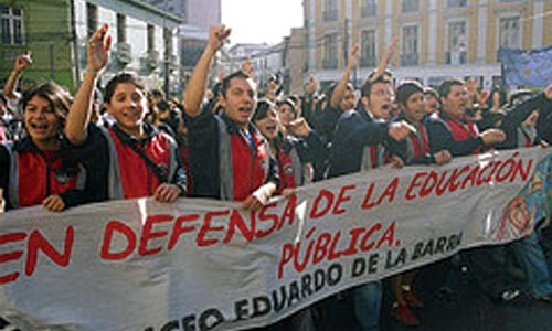 """Street education: Chilean students protest in Corry Beth Vargo's """"A Day of School."""""""