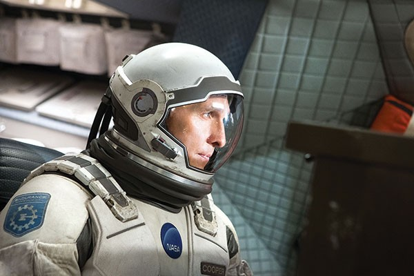 Suited up: Matthew McConaughey in Interstellar