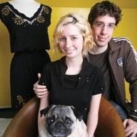 Susan and Eric Koger, with Winston