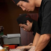 Sushi Tomo Sushi chefs Henry Vy and Andy Chen Photo by Heather Mull