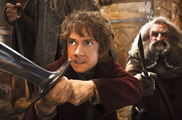 Swordplay: Bilbo Baggins (Martin Freeman) on defense