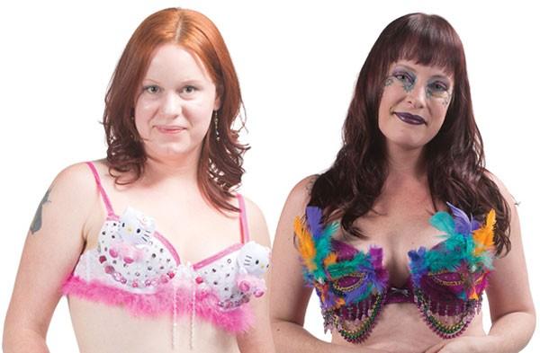 Sylvia Stambaugh models Hello Titty and Jennifer Wilson models Mardi Bra