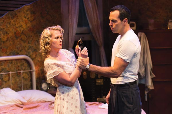 Tami Dixon and Patrick Jordan in barebones productions' A Streetcar Named Desire