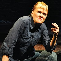 Tami Dixon, in character, in <i>South Side Stories</i>, at City Theatre.