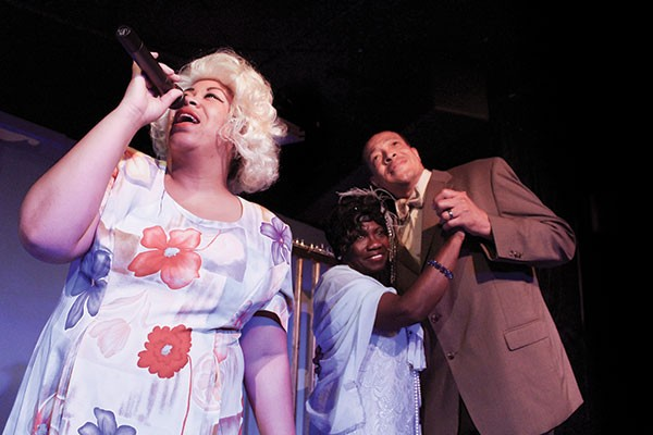 Terri Lynn Smith, Stephanie Akers and Charles Timbers Jr. in Queens of the Blues at New Horizons Theater