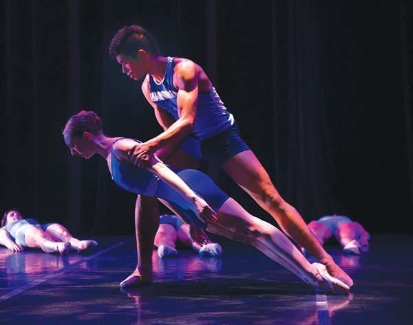 Texture dancers Amanda Summer and Alan Obuzor