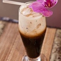 Red Orchid Thai Iced Coffee Photo by Heather Mull